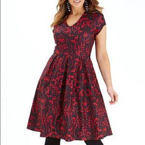NWT Simply Be💕 Red & Black Dress